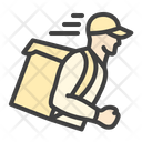 Fast Delivery Courier Icon