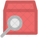 Delivery Package Magnifying Icon