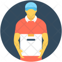 Delivery Boy Courier Icon