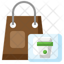 Delivery Bag Coffee Cup Drink Icon