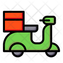 Delivery Bike Delivery Scooter Scooter Icon