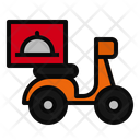 Delivery Motorcycle Motorbike Icon