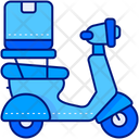 Delivery Bike Scooter Takeaway Icon