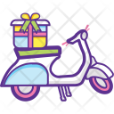 Delivery Bike Cargo Icon