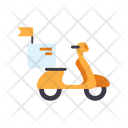 Motorcycle Food Delivery Icon