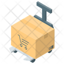 Cardboard Parcel Package Icon