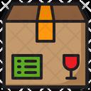 Glass Shipping Box Icon