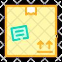 Cardboard Box Color Icon