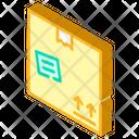 Cardboard Box Isometric Icon