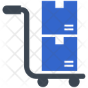 Box Delivery Trolley Icon