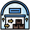 Import Shipping And Delivery Logistics Icon