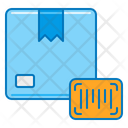 Delivery Box Barcode Icon