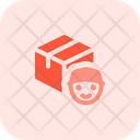 Delivery Box Courier Courier Man Delivery Boy Icon