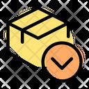 Delivery Box Down Icon