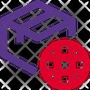 Delivery Box Globe Icon