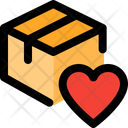 Delivery Box Heart Love Delivery Favorite Parcel Icon