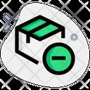 Delivery Box Minus Archive Box Minus Cancel Delivery Icon