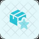 Delivery Box Star Icon