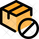 Delivery Box Stop Archive Box Stop Parcel Ban Icon