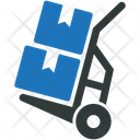 Delivery Box Trolley Icon