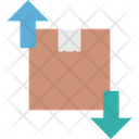 Delivery Box With Arrows Icon
