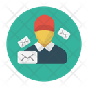 Letter Mail Boy Icon