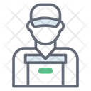 Worker Cargo Worker Delivery Boy Icon