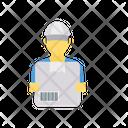 Delivery Boy Carton Icon