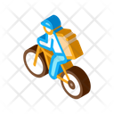 Bicycle Delivery Courier Icon