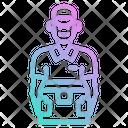 Delivery Box Man Icon