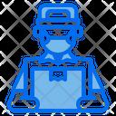 Delivery Boy Delivery Social Distancing Icon