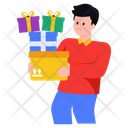 Gifts Delivery Delivery Boy Gifts Icon