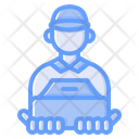 Courier Delivery Box Icon