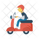 Delivery Boy Scooter Icon