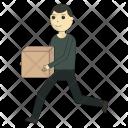 Box Worker Deliveryman Icon