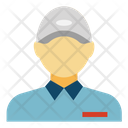 Delivery Boy Courier Service Postman Icon