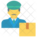 Delivery Boy Package Icon
