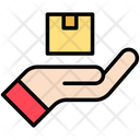Delivered Package Hand Gesture Icon