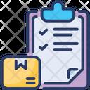 Delivery Checklist Shipment Clipboard Icon