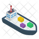 Delivery Cruise Ship Cruise Ship Water Cargo Icon