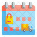Delivery Date Shopping Schedule Icon