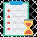 Deadline Stopwatch Hourglass Icon