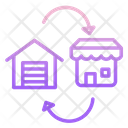Distribution Logistic Delivery Distribution Shop Icon