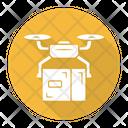 Delivery Drone Box Icon
