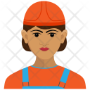 Delivery Girl Road Icon