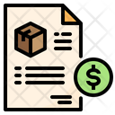 Delivery Invoice Delivery Bill Delivery Receipt Icon