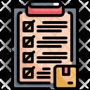 Checklist Logistic Shipping Icon