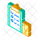 Delivering List Isometric Icon