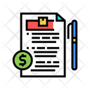 Delivery Contract Color Icon
