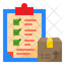 Delivery List Clipboard Check List Icon